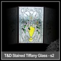 stained glass door for religious