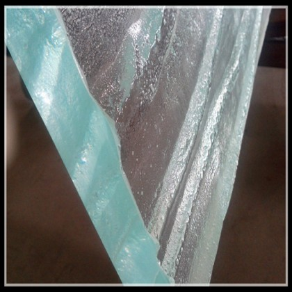 glass top with solid surface
