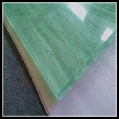 solid surface glass stairs