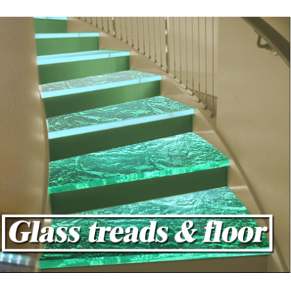 2014 newest design glass stairs